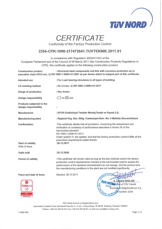 Сертификация en 1090 поставка и сертификация оборудования в казахстане